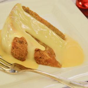 Mango and pineapple Christmas pudding