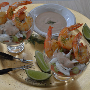 Seafood Cocktail with Yoghurt Sauce