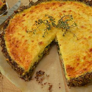 Quinoa and Spinach Cheesy Tart