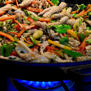 Thai- style Stir Fried Squid